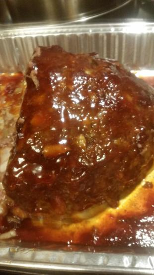 Cheese Meatloaf with Brown Sugar Glaze Recipe