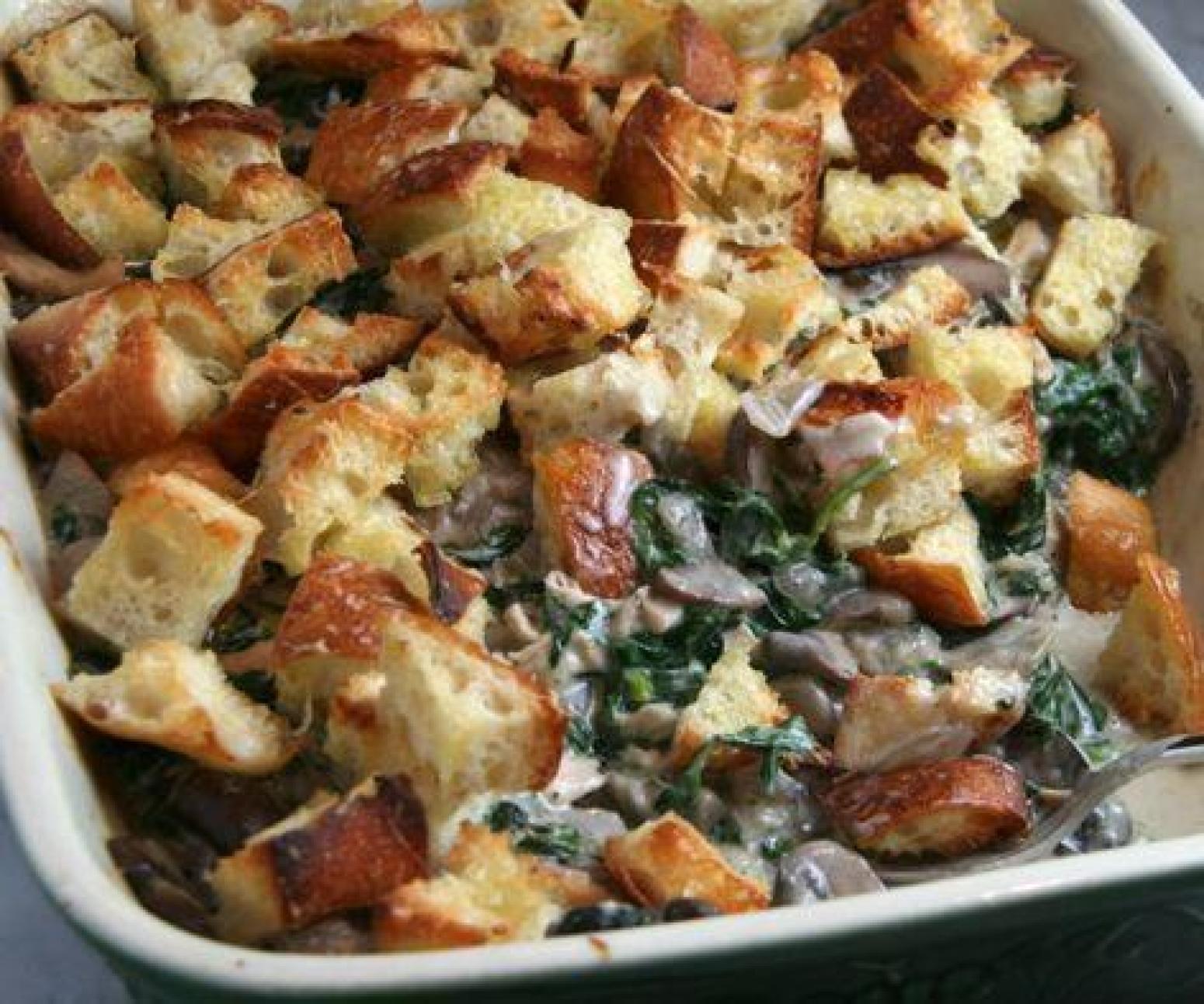 Spinach Mushroom Casserole Recipe | Just A Pinch Recipes