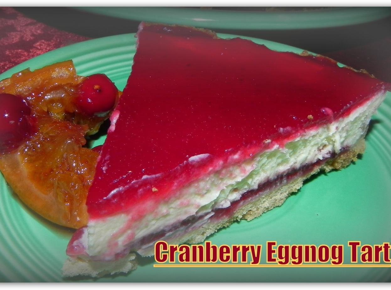 Cranberry Eggnog Tart Recipe