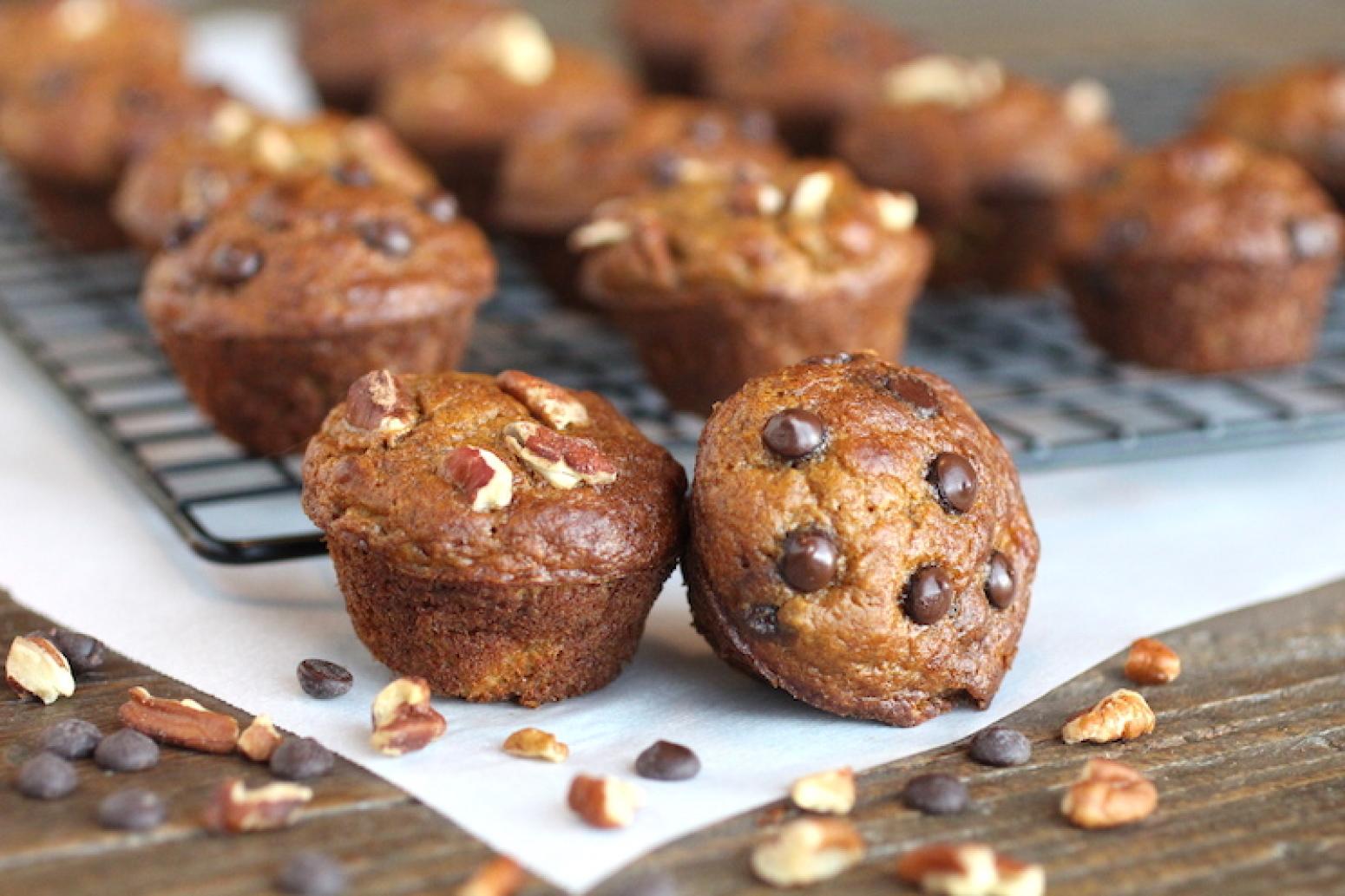Sweet Potato Banana Mini Muffins Recipe | Just A Pinch Recipes