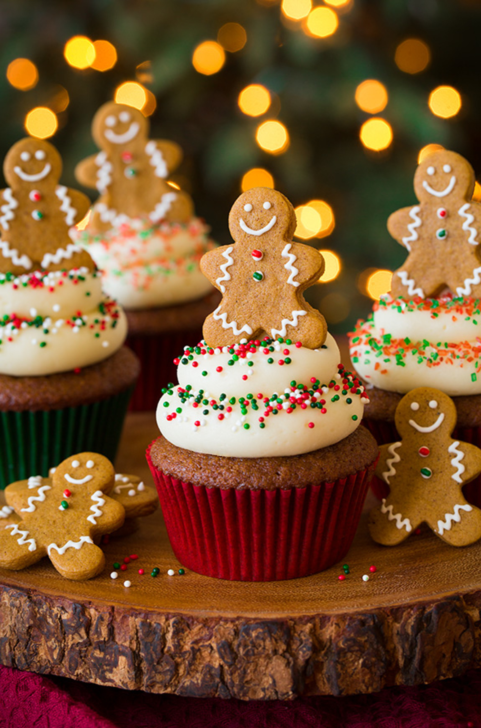 Gingerbread Cupcakes with Cream Cheese Frosting Recipe | Just A Pinch ...