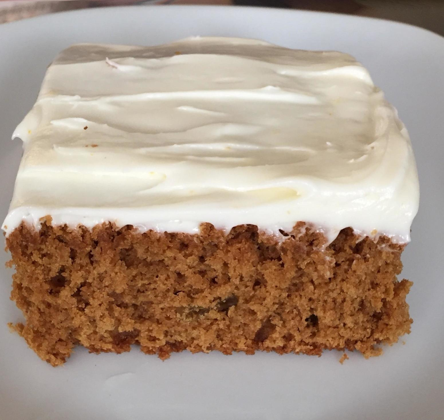 Ginger Cake with Orange Cream Cheese Icing Recipe | Just A Pinch ...