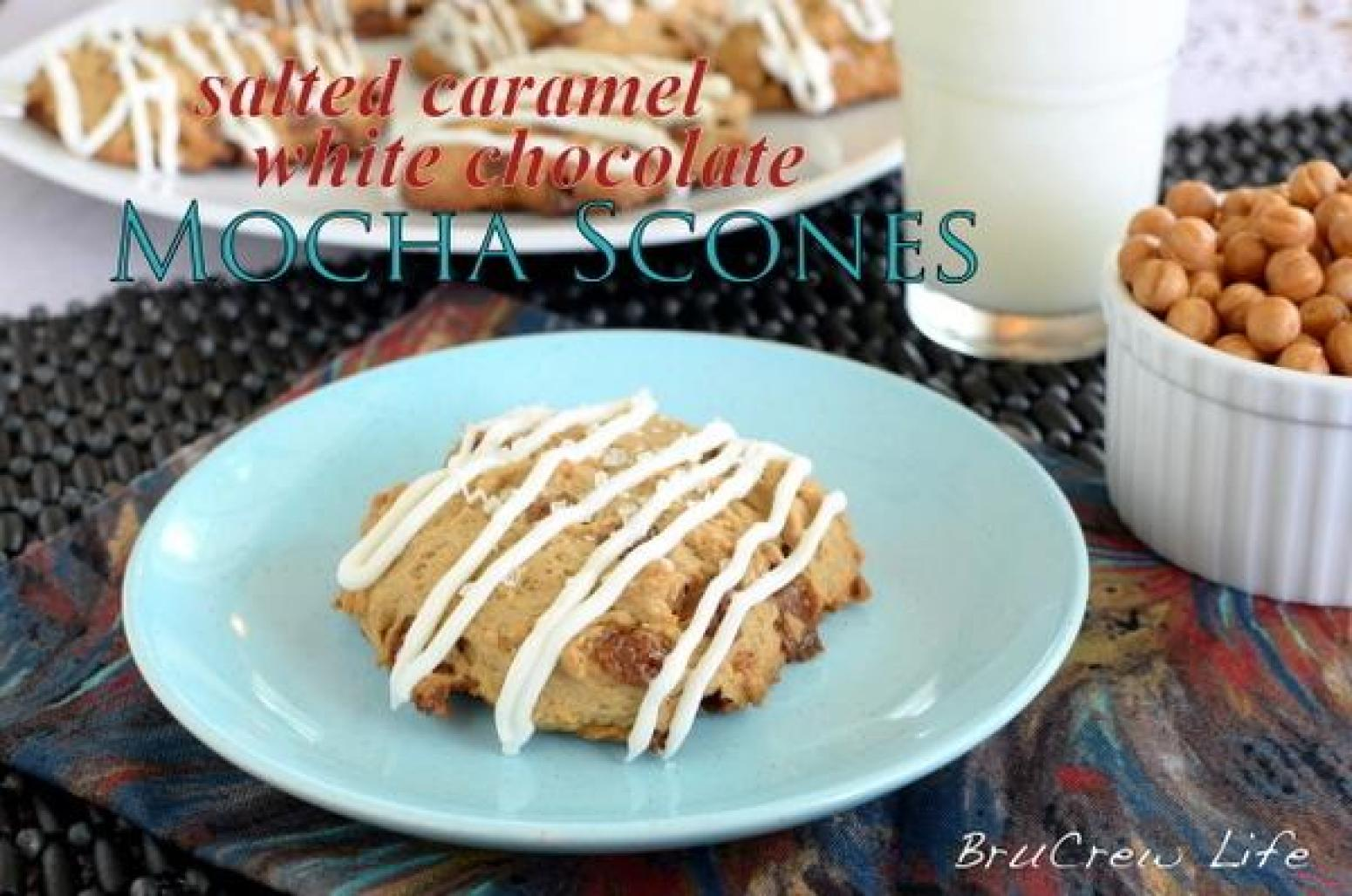 ... Caramel White Chocolate Mocha Scones Recipe | Just A Pinch Recipes