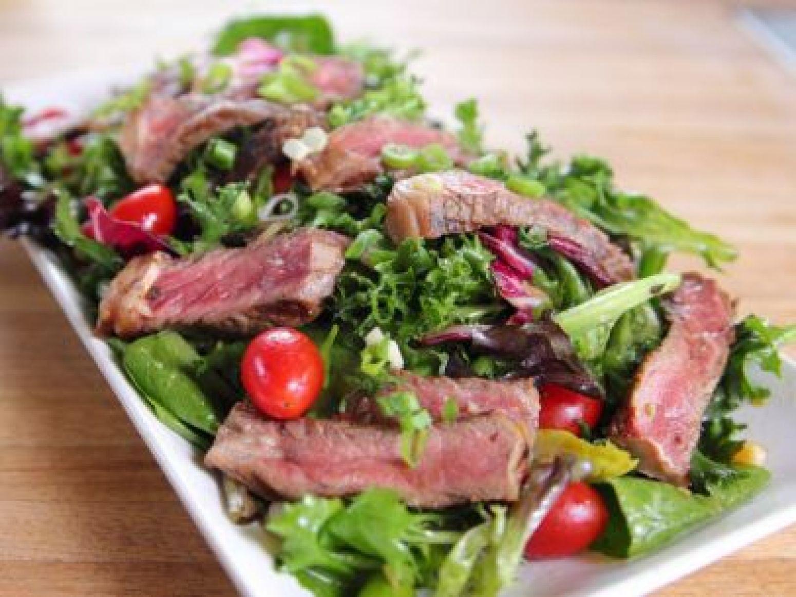Ginger Steak Salad Recipe 2 | Just A Pinch Recipes