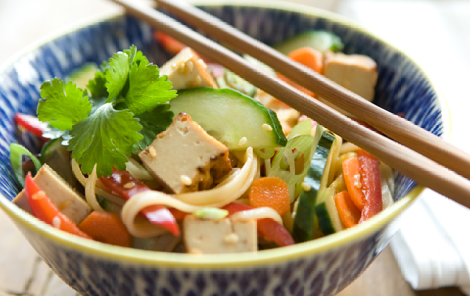 Tofu and Sesame Noodle Salad Recipe | Just A Pinch Recipes