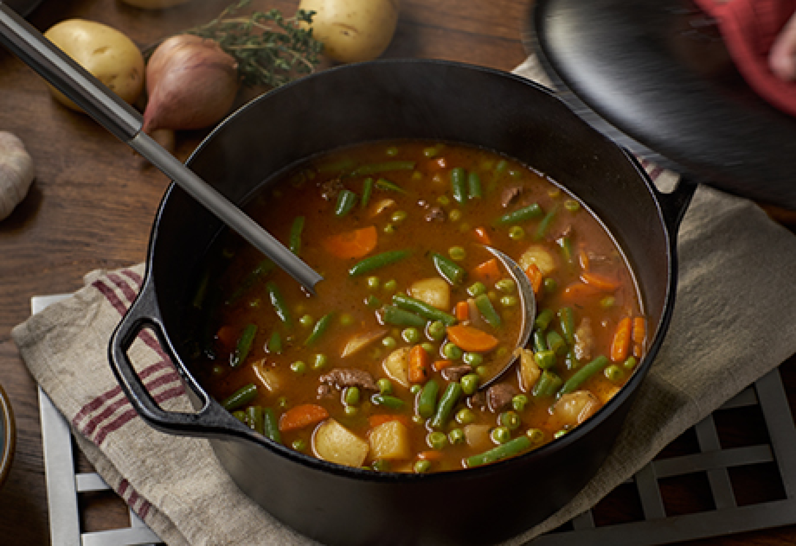 Campbell's Beef & Vegetable Soup Recipe | Just A Pinch Recipes