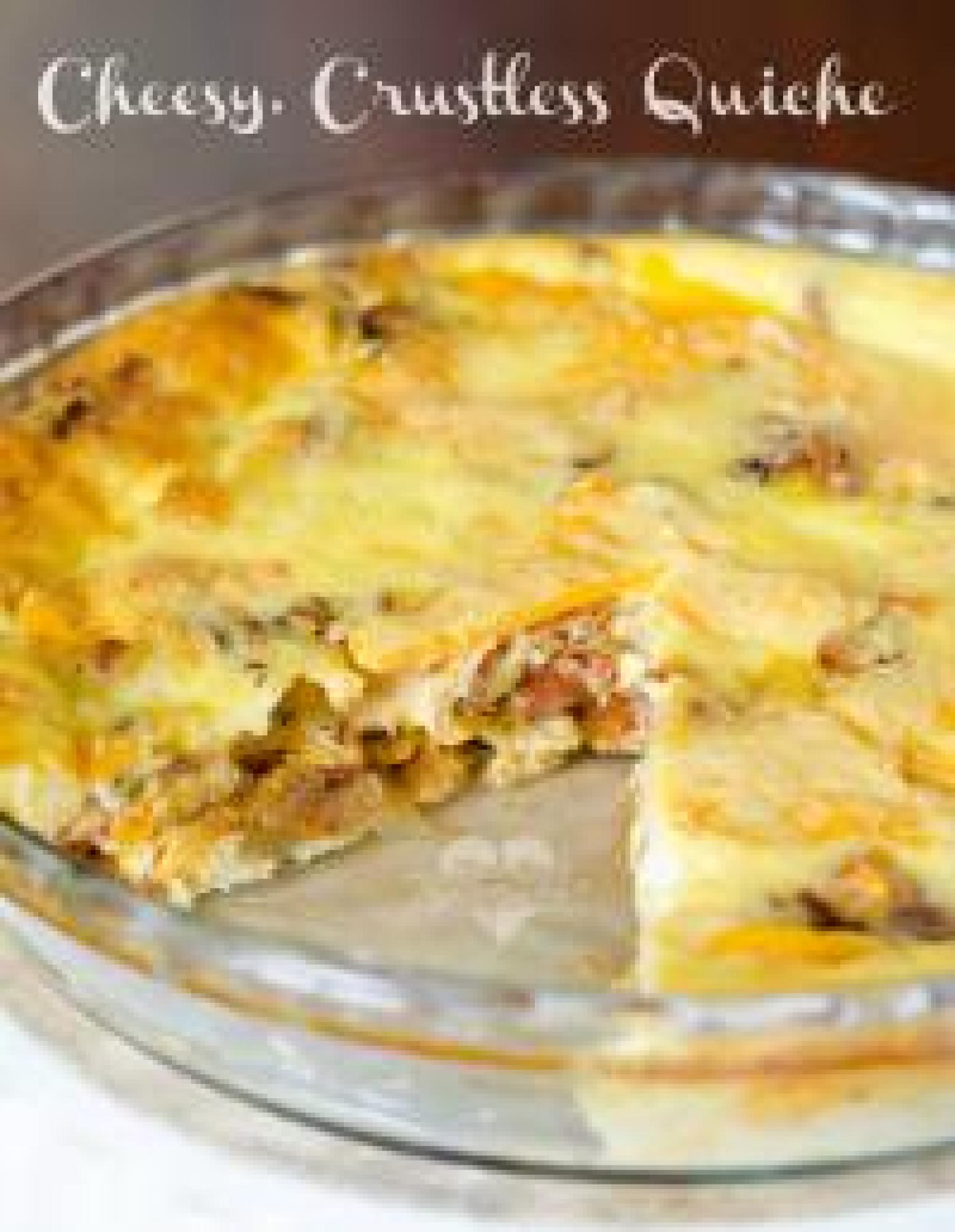 Crustless Cheesy Bacon Quiche Recipe | Just A Pinch Recipes