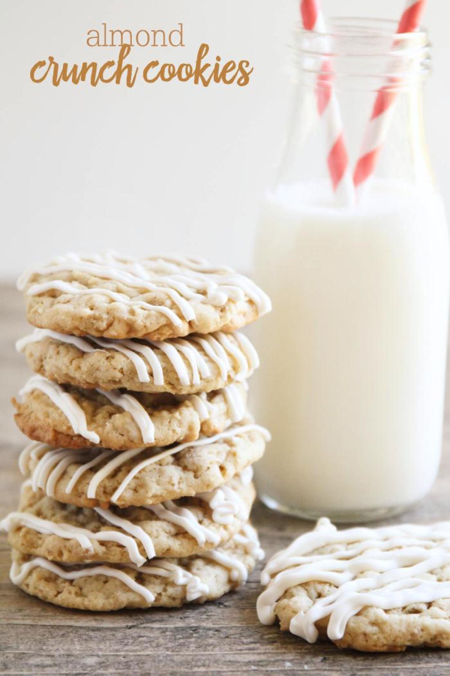 Almond Crunch Cookies Recipe | Just A Pinch Recipes