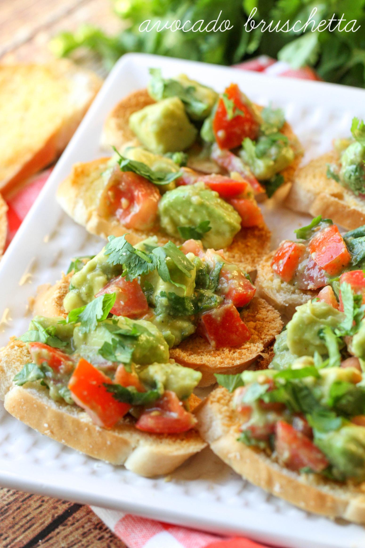 Guacamole Bruschetta Recipe 3 | Just A Pinch Recipes