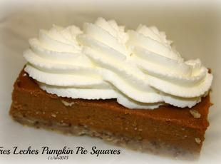 Tres Leches Pumpkin Pie Squares Recipe
