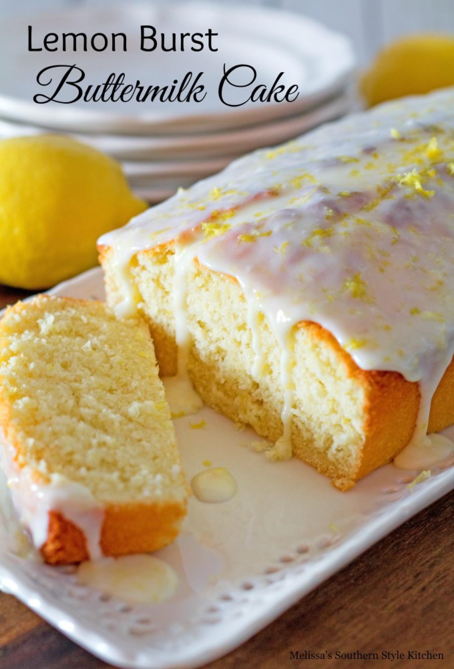 Lemon Burst Vanilla Cake