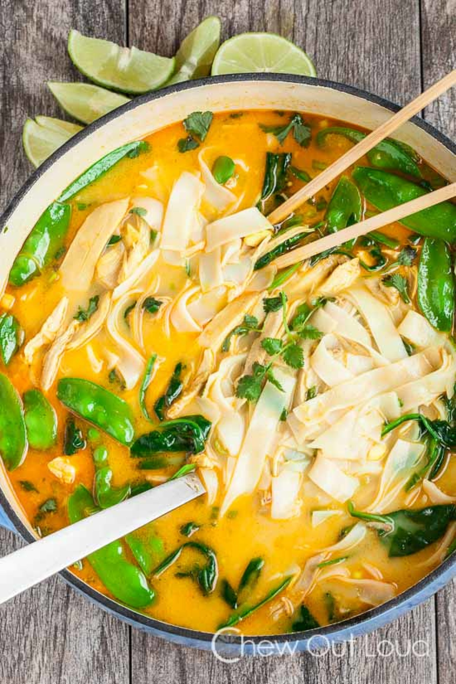 Coconut Curry Chicken Noodle Soup Recipe | Just A Pinch Recipes