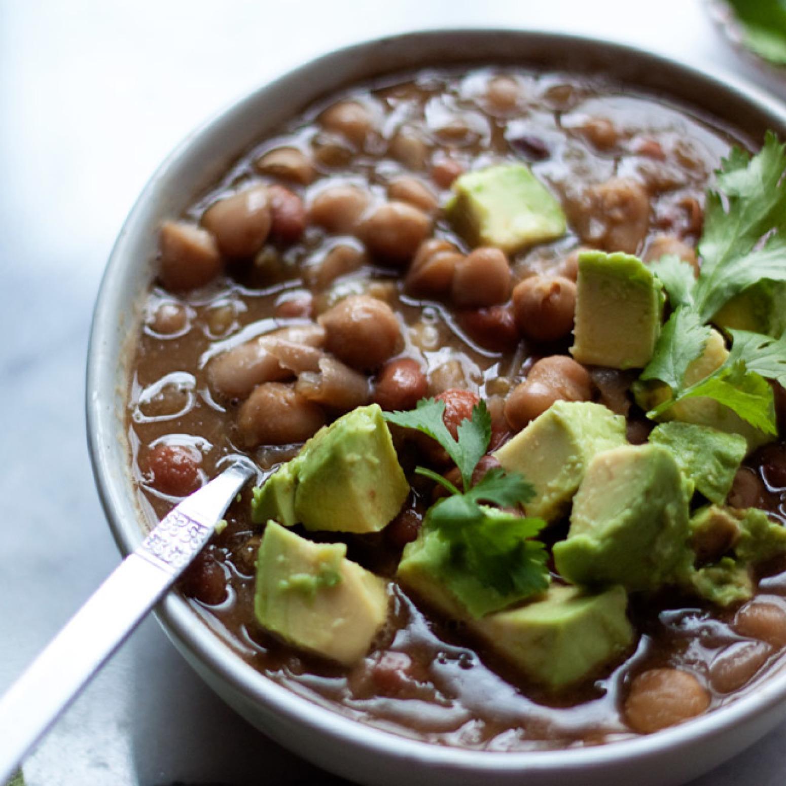 Hearty Three Bean White Chili Recipe | Just A Pinch Recipes