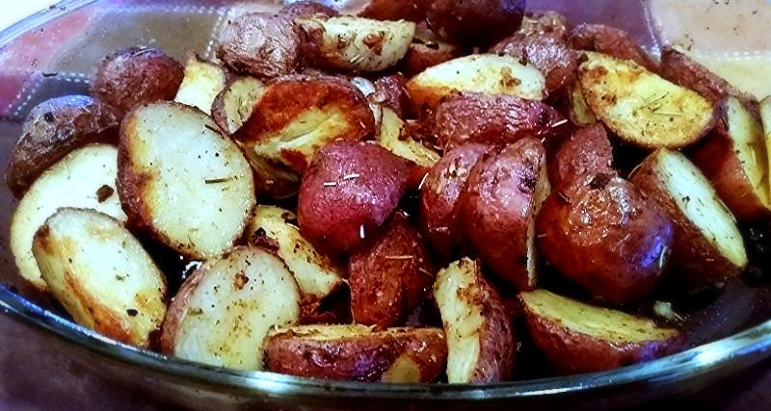 Garlic Amp Herb Roasted Baby Red Potatoes Recipe Just A