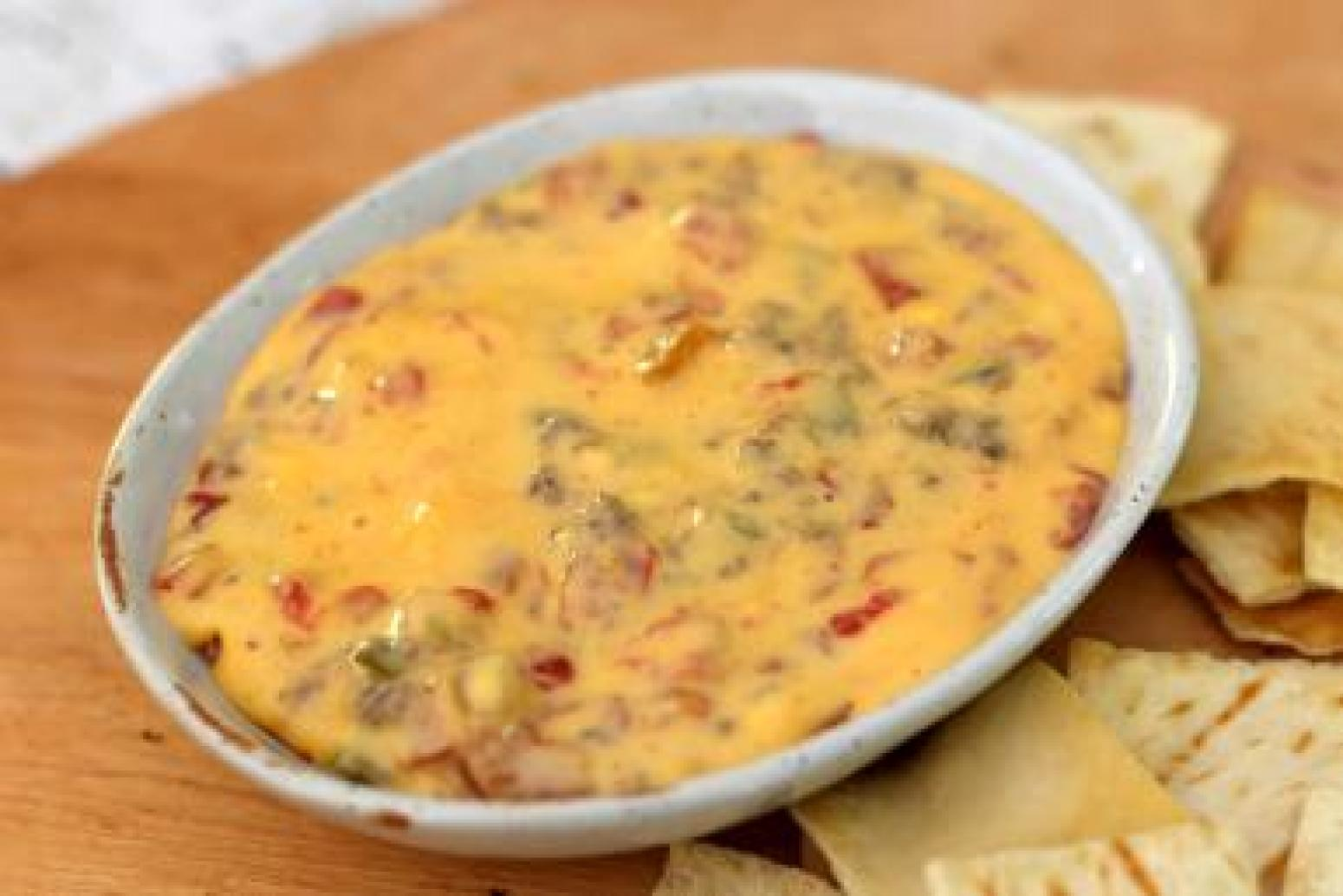 Crock Pot Rotel Dip With Ground Beef And Cheese Recipe Just A Pinch Recipes