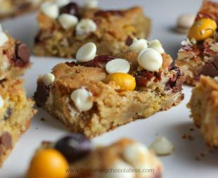 Autumn Pecan Pie M&M Blondies Recipe