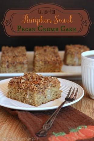Pumpkin Swirl Pecan Crumb Cake Recipe