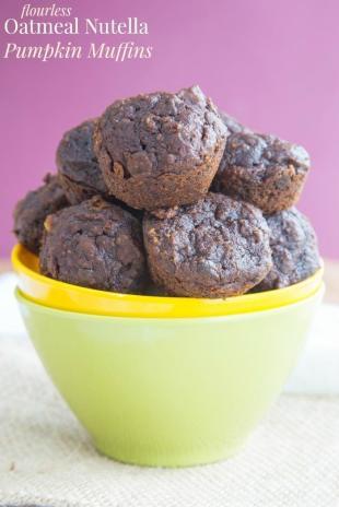 Flourless Oatmeal Nutella Pumpkin Muffins Recipe