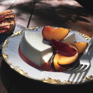 Yogurt Panna Cotta with Fresh Plums Recipe