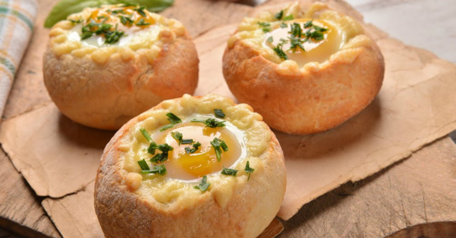 Breakfast Egg Bread Bowls Recipe Just A Pinch Recipes