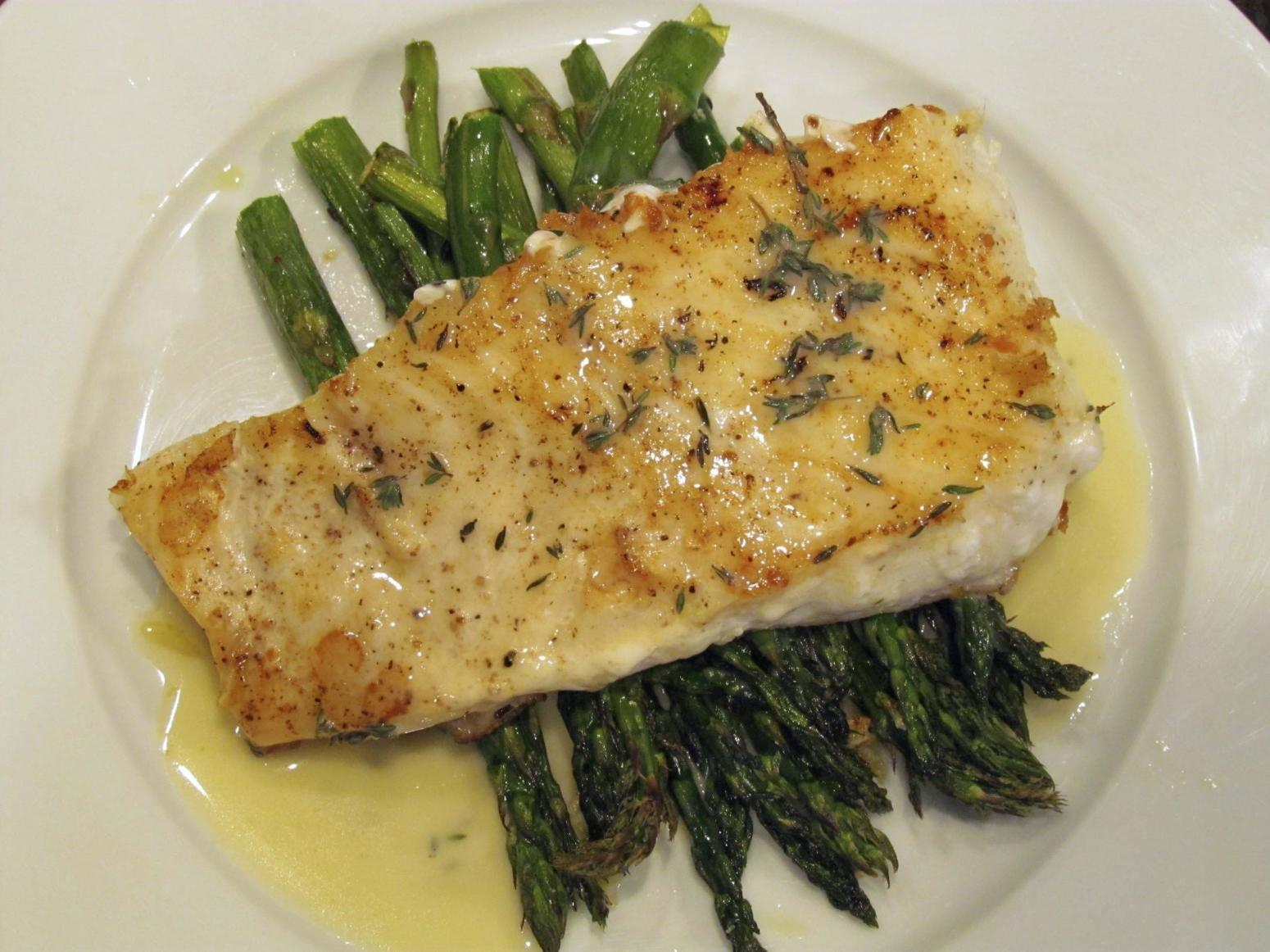 Baked halibut with lemon butter sauce recipe just a for Lemon fish sauce recipe