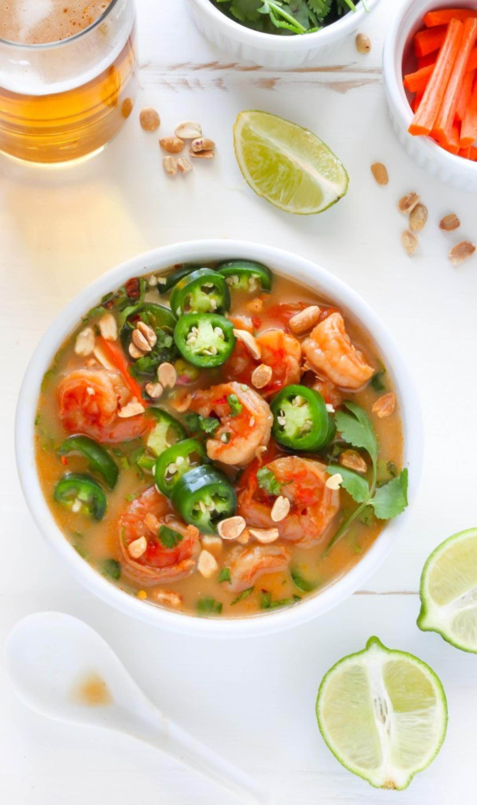 Thai Coconut Shrimp Soup Recipe 3 | Just A Pinch Recipes