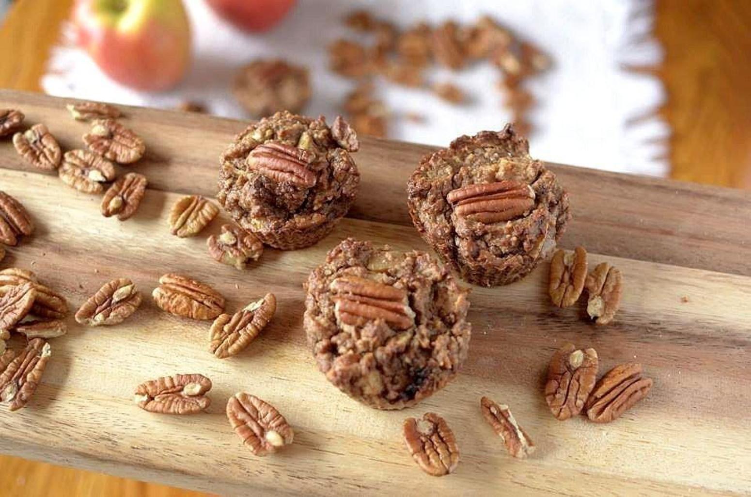 Flourless Apple Pecan Muffins Recipe | Just A Pinch Recipes