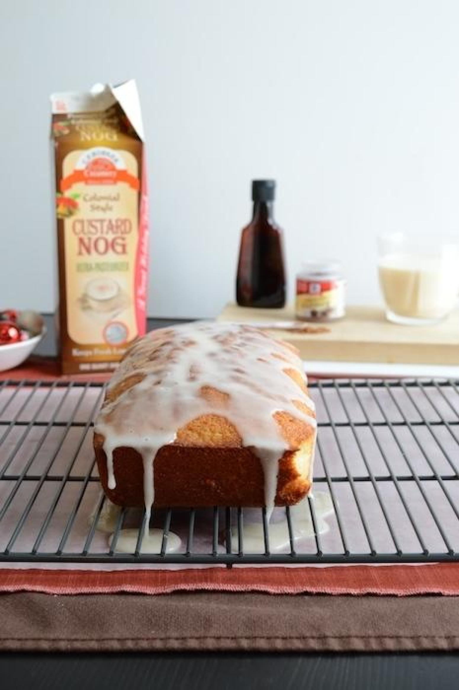 Whipped Eggnog Loaf Cake Recipe | Just A Pinch Recipes