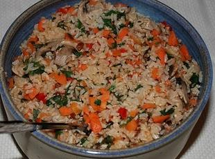 Rice-Vegetable Pilaf Recipe