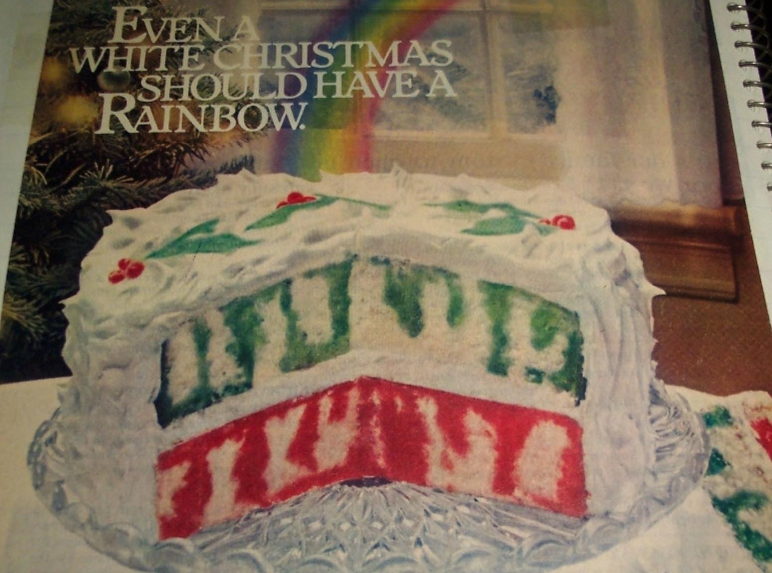Jello Christmas Rainbow Poke Cake