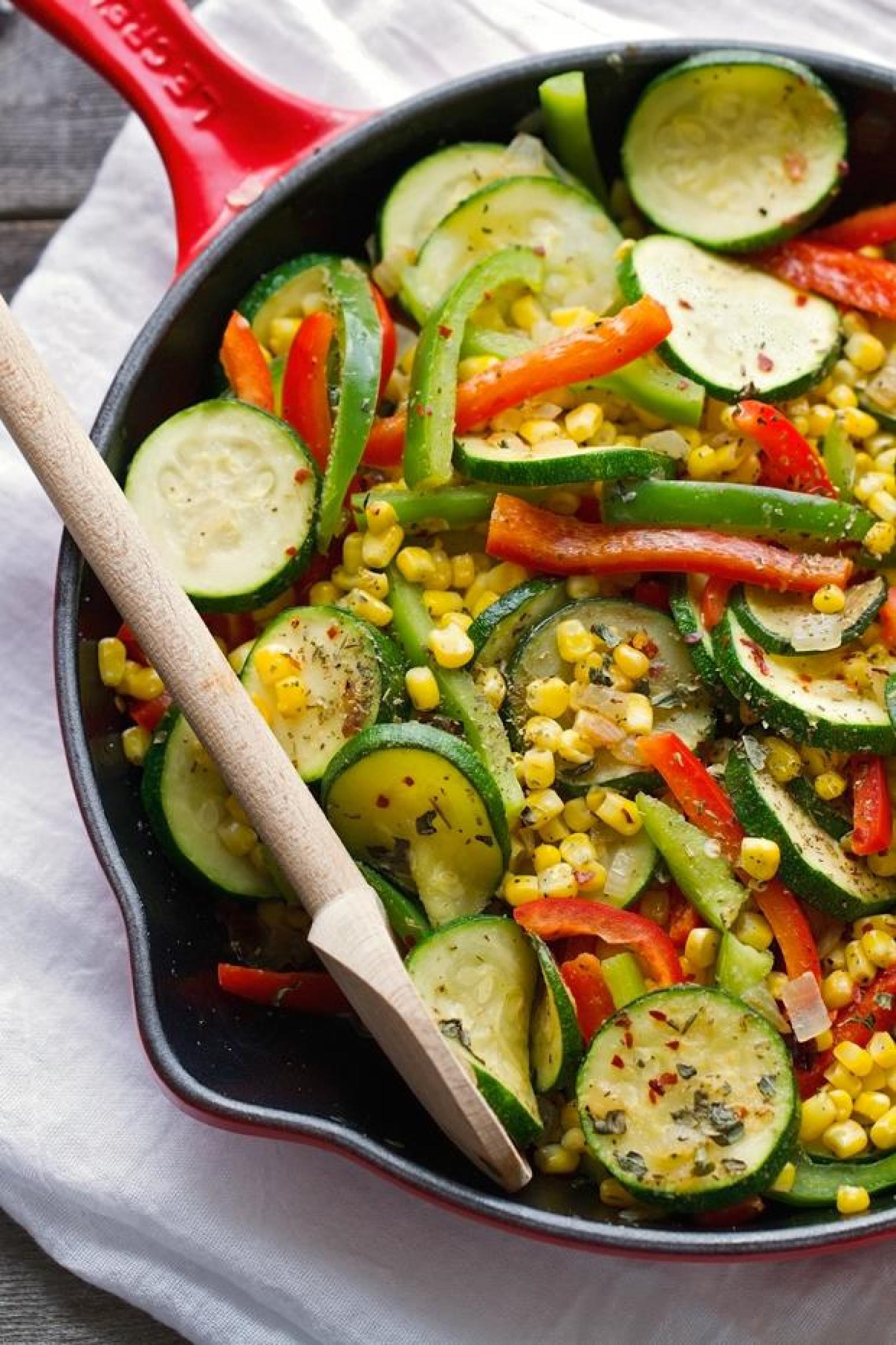 Zucchini and Corn Saute Recipe | Just A Pinch Recipes