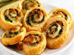 Spinach Cheese Swirls Plus