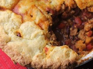 Chili Casserole with a Cornmeal Crust Recipe
