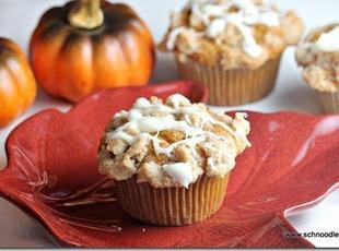 Pumpkin Muffins w Streusel & Cream Cheese Glaze Recipe