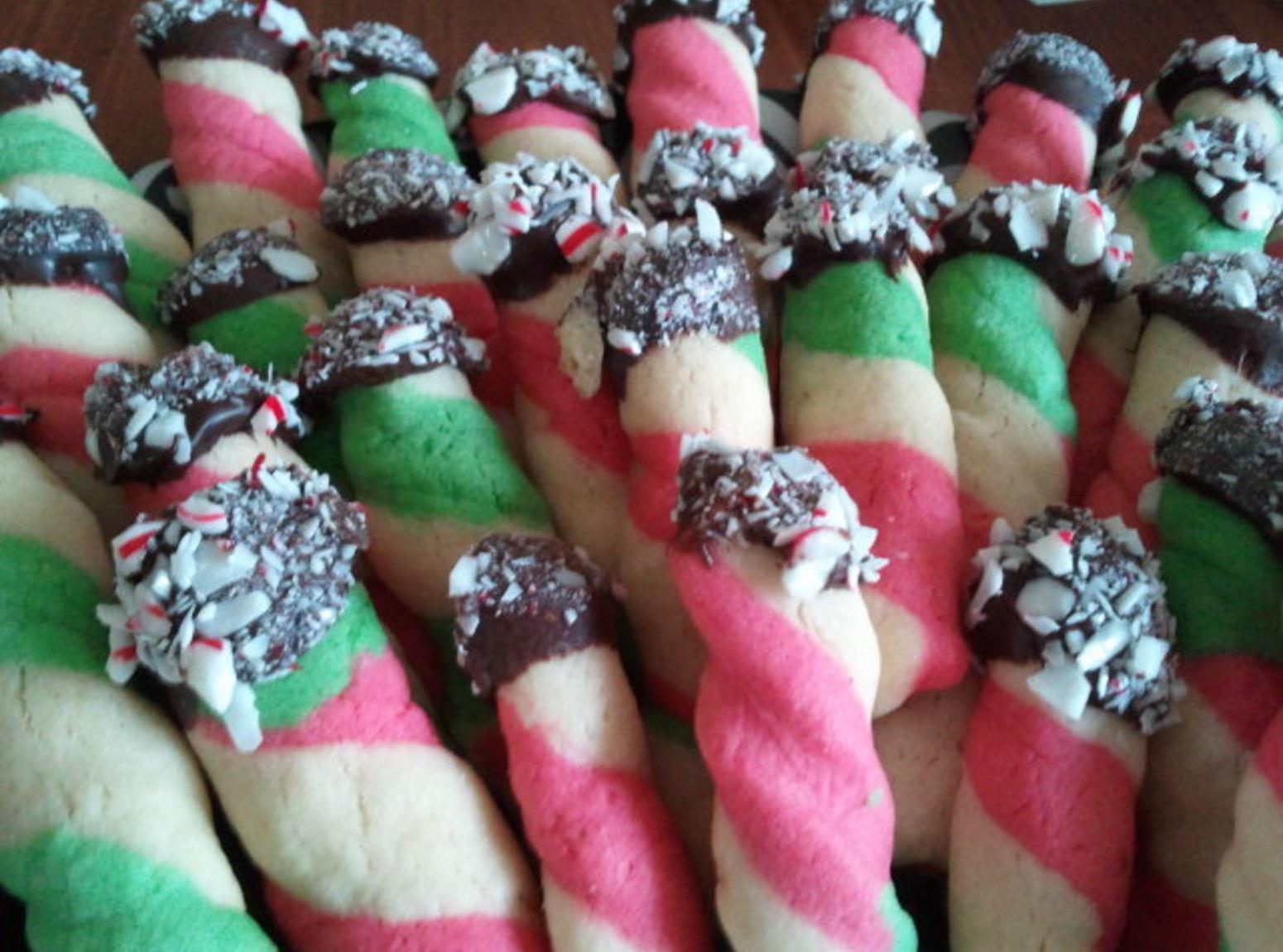Peppermint Stick Butter Cookies Recipe