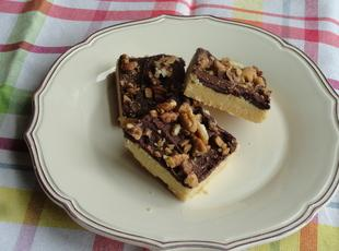 Chocolate Covered Shortbread with Toffee & Pecans Recipe