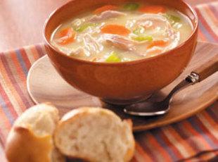 Homemade Creamy Turkey Soup Recipe