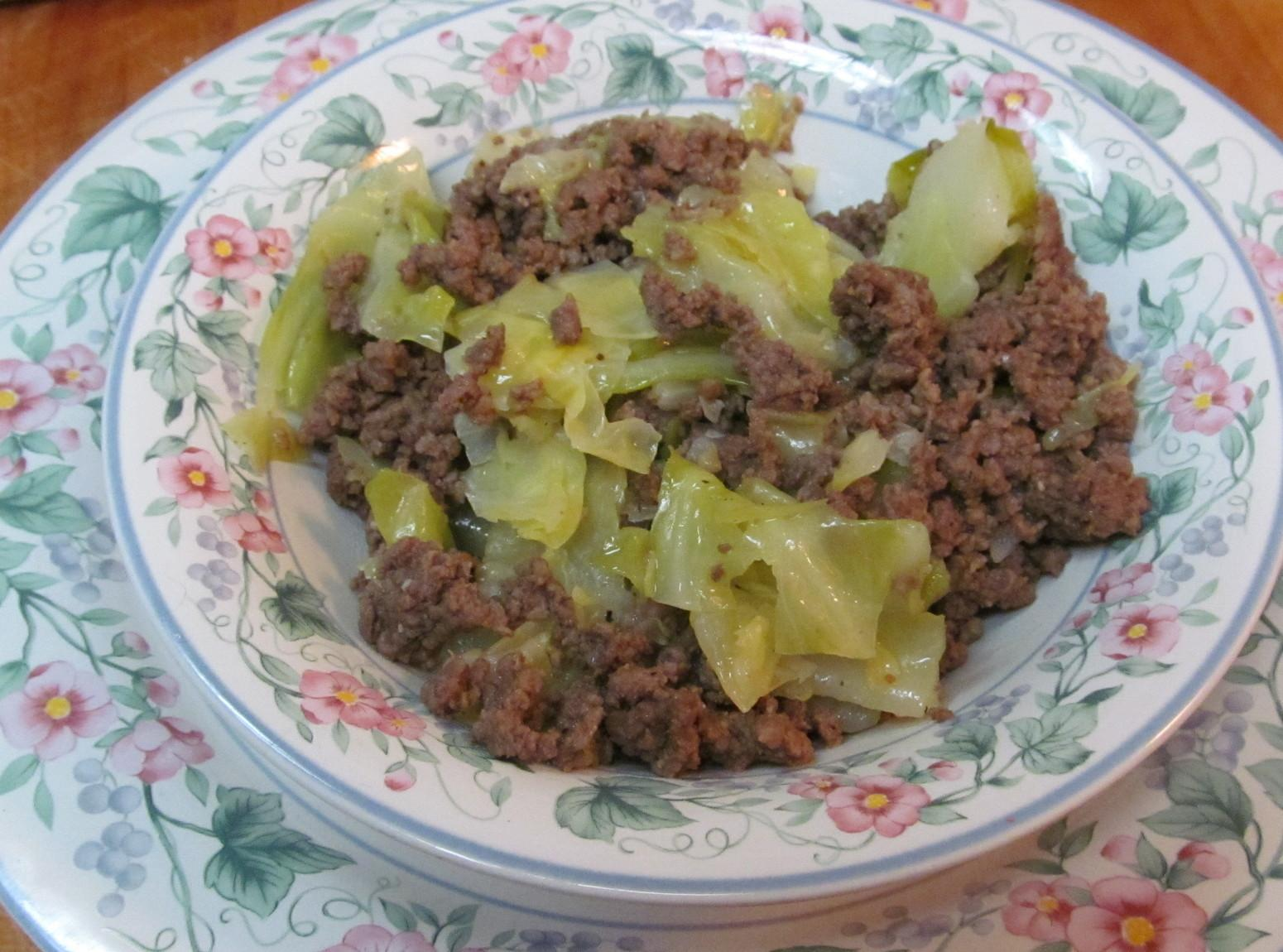 Hamburger & Cabbage Recipe