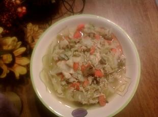 Chunky Chicken Soup with Rice Recipe