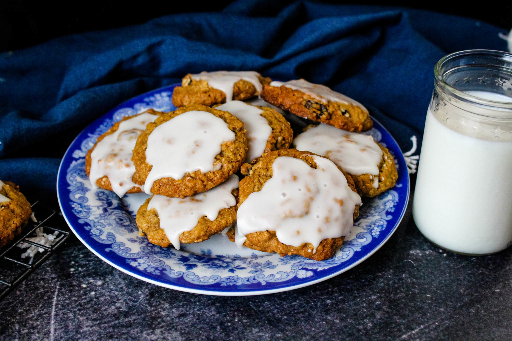 Grandma Ann's Iced Oatmeal Spice Cookies Recipe | Just A Pinch Recipes