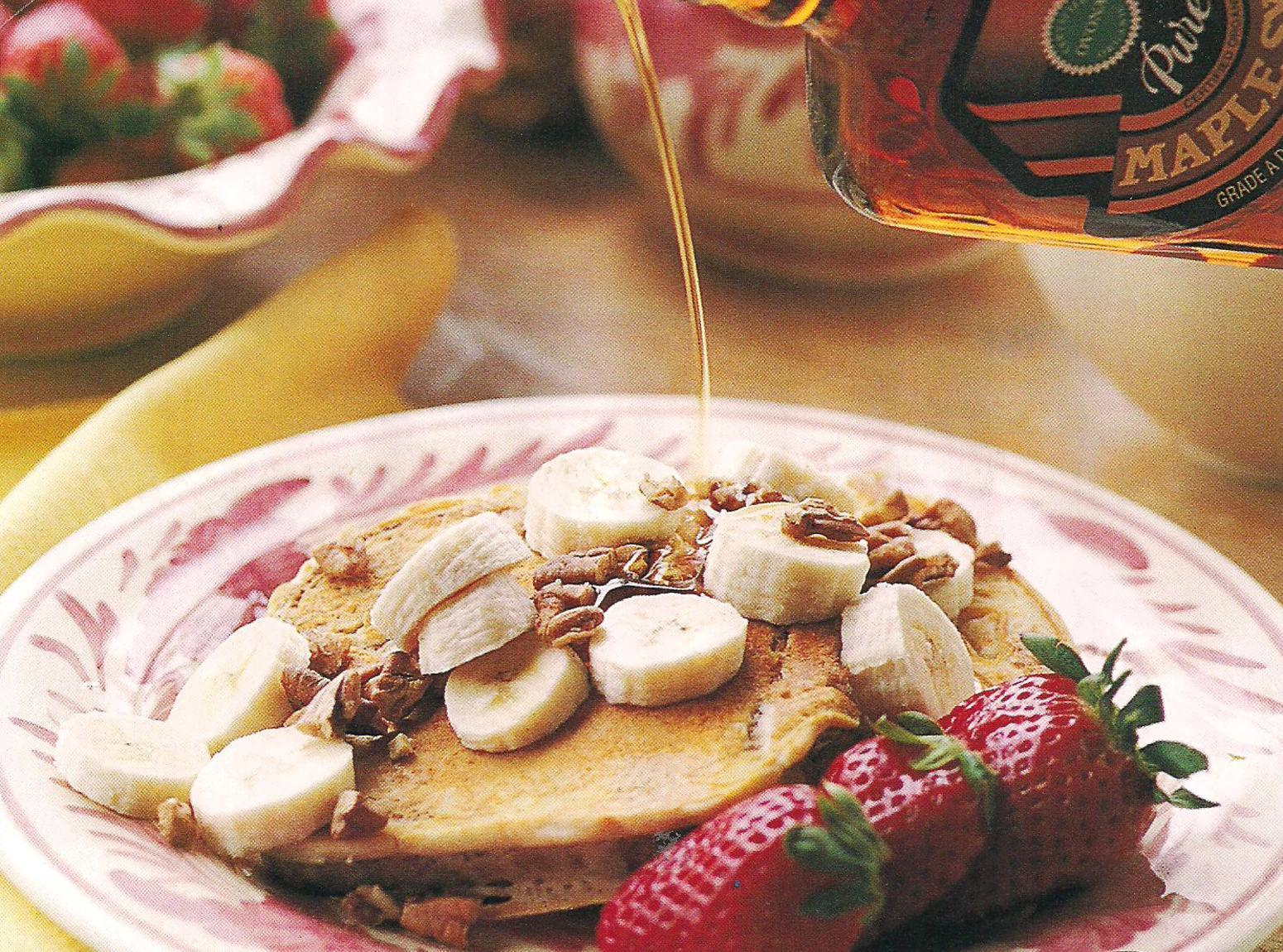 Cinnamon French Toast with Fruit and Pecans Recipe