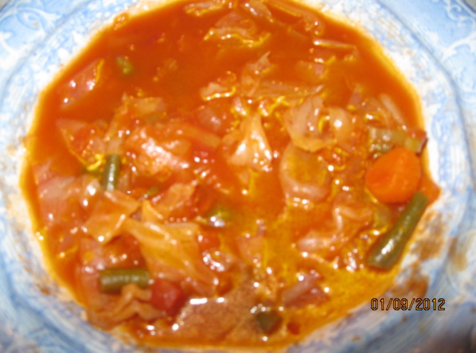 Cabbage-Vegetable Soup Recipe — Dishmaps