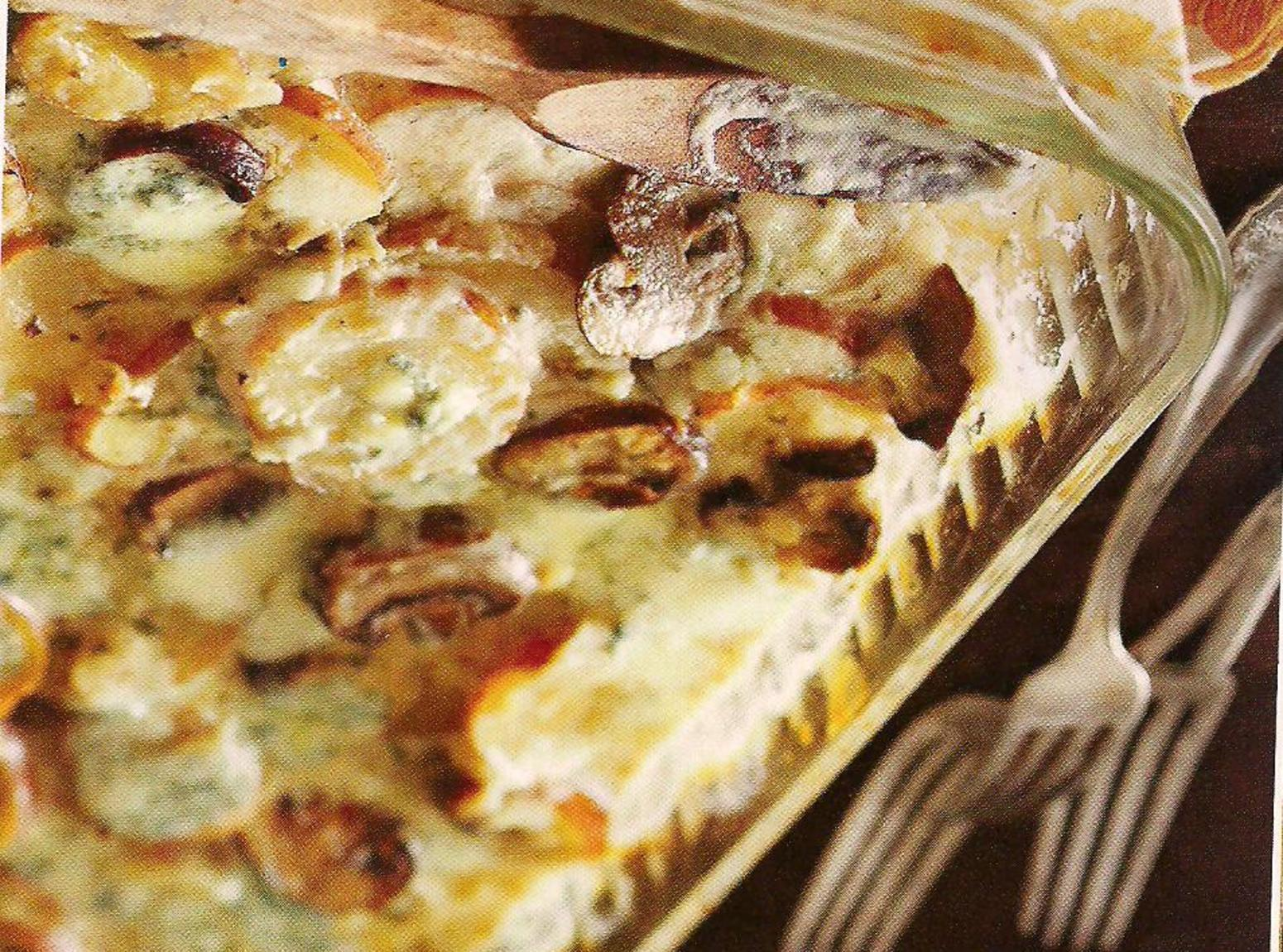Mushroom and Blue Cheese Potatoes Au Gratin Recipe