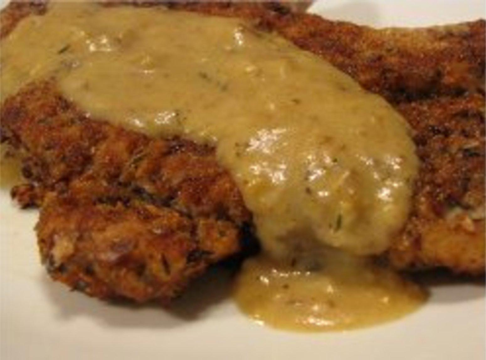 Chicken Fried Pork Chops w/ Mustard Sauce Recipe