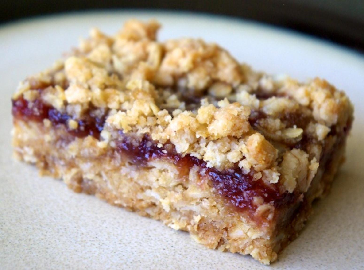 Strawberry Filled Oatmeal Bars Recipe | Just A Pinch Recipes