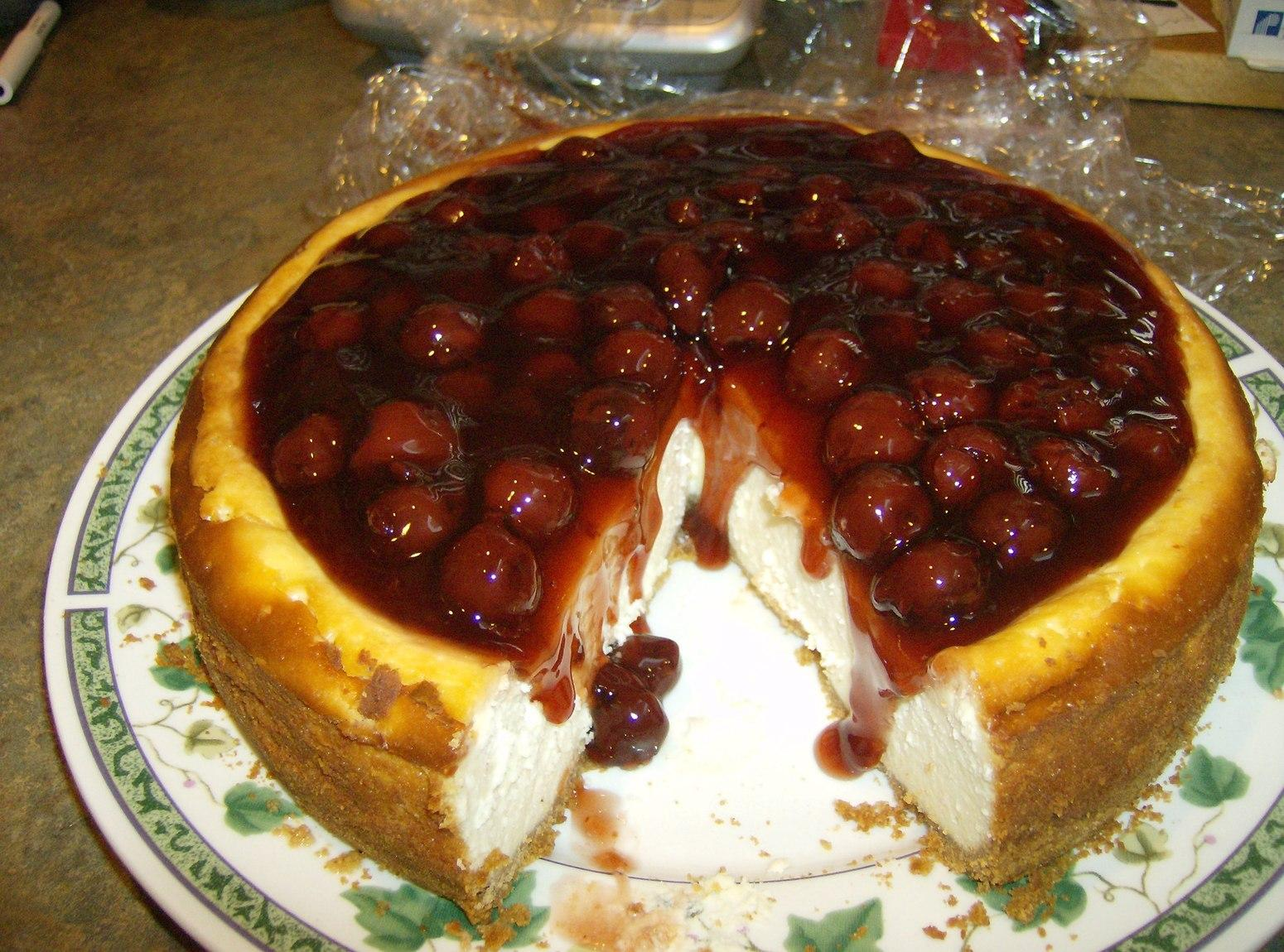 Dan's Birthday New York Cherry Cheese Cake Recipe