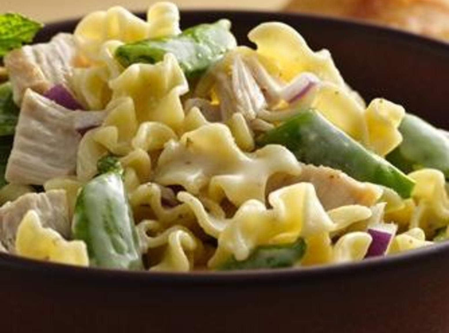 Chicken and Sugar Snap Pea Pasta Salad Recipe | Just A ...