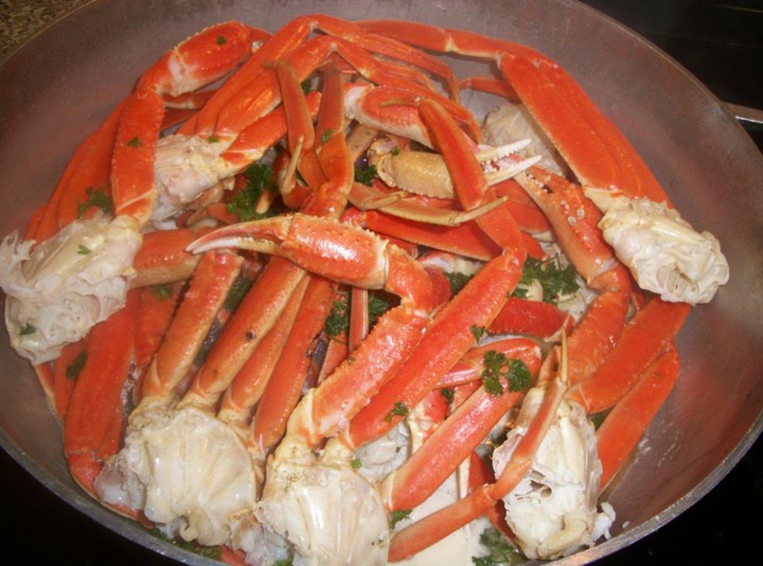 Garlic Crab Legs Recipe Just A Pinch Recipes