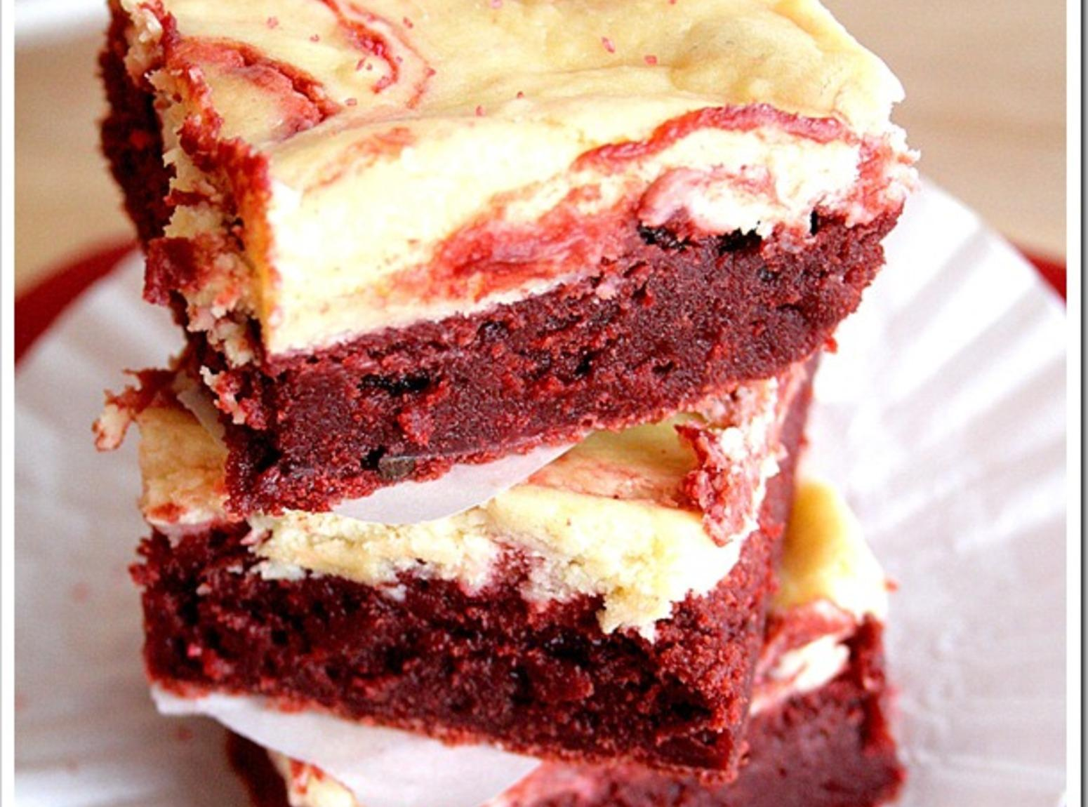 Red Velvet Cheesecake Swirl Brownies Recipe | Just A Pinch Recipes