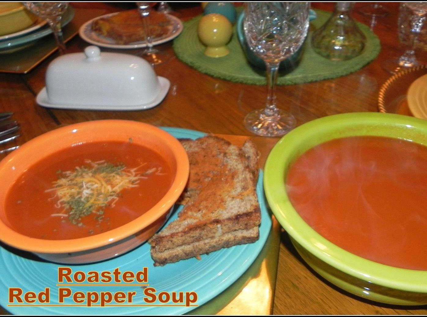 Roasted Red Pepper Soup Recipe | Just A Pinch Recipes